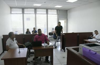 Orlando Álvaro Wharff, en medio de la audiencia de imputación de cargos.