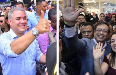 Iván Duque, electo presidente de los colombianos. Gustavo Petro, quien perdió, ahora será senador.