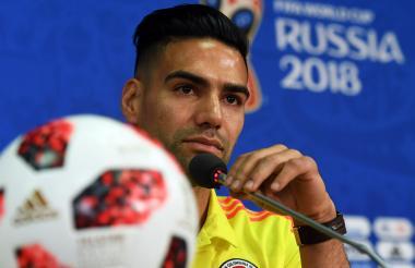 Radamel Falcao García durante la rueda de prensa.