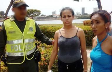 Las dos mujeres venezolanas capturadas.