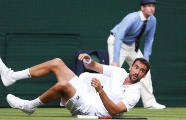 El croata Marin Cilic durante su encuentro este miércoles en el torneo Wimbledon.