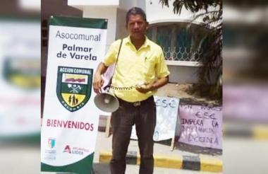 Luis Barrios, líder asesinado.