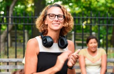 La directora argentina Julia Solomonoff durante una jornada de rodaje.