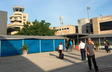 Aspecto del aeropuerto Ernesto Cortissoz.