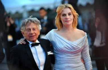 El director franco-polaco Roman Polanski y la actriz francesa Emmanuelle Seigner.