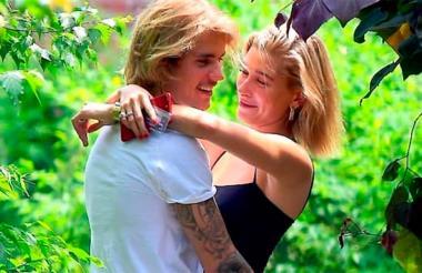 El cantante Justin Bieber y su actual novia Hailey Baldwin.