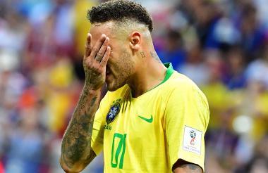 Neymar fue el símbolo de la eliminación de Brasil. El talento del crac del PSG no bastó para llegar a la final.