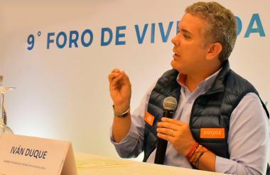 El presidente electo, Iván Duque.