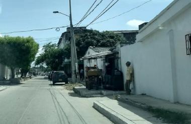 Sector del barrio Hipódromo donde fue atacado a tiros el habitante de la calle.