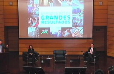 El ministro Cárdenas durante su intervención.