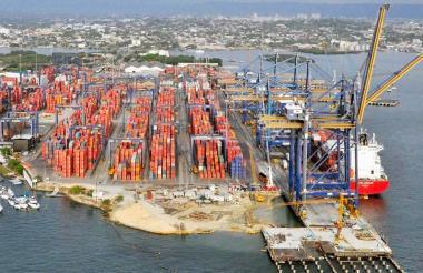 Instalaciones de la Sociedad Portuaria de Cartagena.