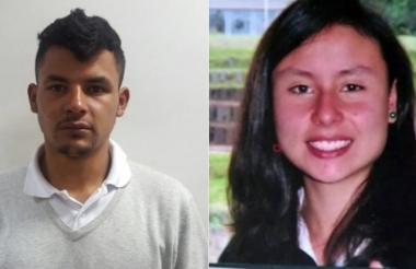 Lenis Fernando Mendoza Bran y su víctima, Daniela García Rincón.