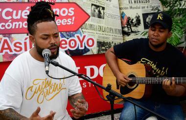 'El rey de la champeta urbana' interpretó cuatro canciones en EL HERALDO.