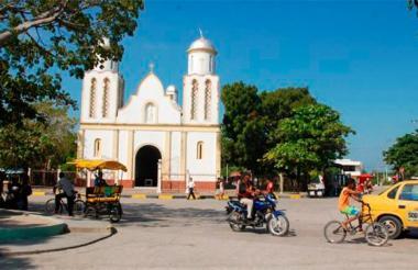 Plaza central de Galapa.