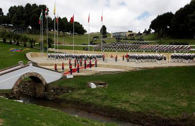 Ceremonia militar celebrada el 7 de agosto de 2017 en el Puente de Boyacá.