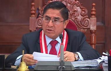 César Hinostroza, juez implicado en corrupción.