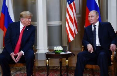 Donald Trump y su homólogo ruso, Vladimir Putin.