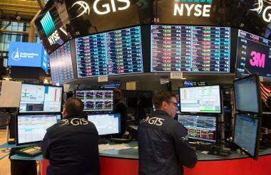 Agentes de la Bolsa de Valores de Nueva York.