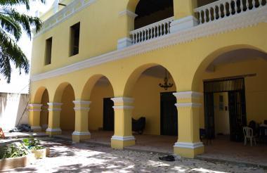 Patio central del Museo Bolivariano de Soledad, que también hace parte de la intervención.