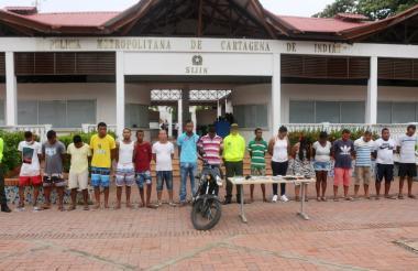 Los capturados por la Sijín y la Fiscalía.