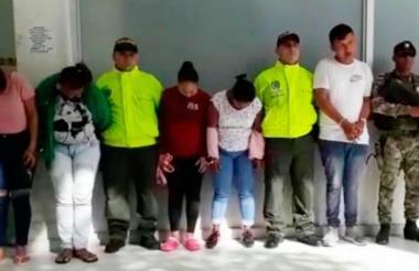 Presuntos miembros de la banda 'Los Cabezones'.