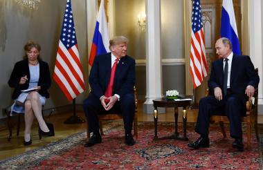 Trump y Putin en su reciente encuentro en Helsinki.