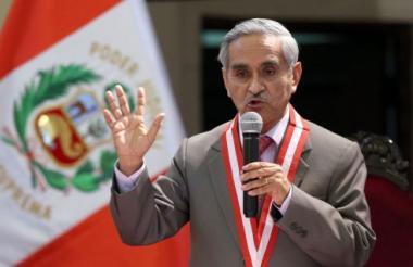 Duberlí Rodríguez, presidente de la Corte Suprema de Perú.