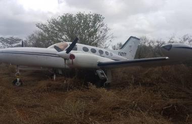 Avioneta incautada en Falcón, Venezuela.