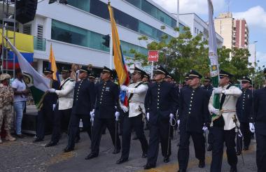 Imagen del desfile en La Guajira.