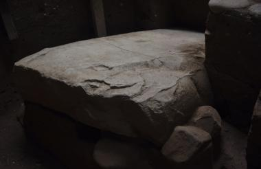 Un detalle del nuevo descubrimiento arqueológico en el sitio arqueológico de Tak'Alik A'Baj, en el municipio de Asintal.