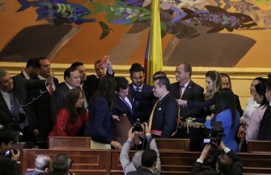 Representantes de la Cámara durante su posesión el pasado 21 de julio.