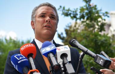 El presidente electo, Iván Duque, durante una conferencia.