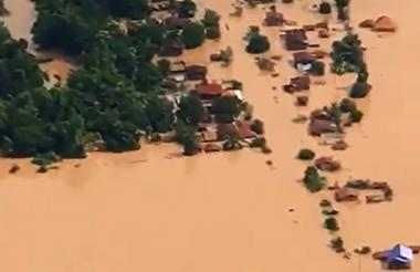 Inundaciones en Laos.