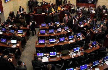 Aspecto de una plenaria del Senado.
