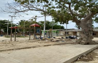 En este parque del barrio Cachimbero de Soledad se presentó el homicidio.