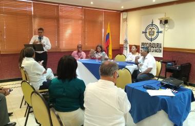 Procuradores, representantes de Electricaribe y directores de los gremios.