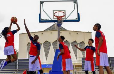 Jugadores de República Dominicana durante un entrenamiento.