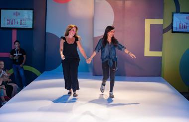 Alexandra Abello y María Elena Pombo, creadora de Beat a Bee.