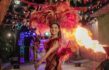 La reina del Carnaval, Valeria Abuchaibe.