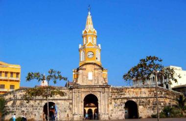Vista de la Plaza del Reloj, en Cartagena.