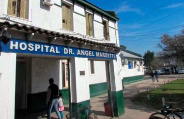 Vista del frente del hospital Dr. Ángel Marzetti.