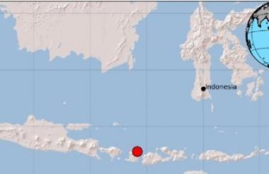 Epicentro del sismo en Indonesia.