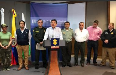 El fiscal general de la Nación, Nestor Humberto Martínez Neira, dio a conocer el balance de los operativos.
