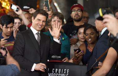 Tom Cruise en el estreno del film en Washington.