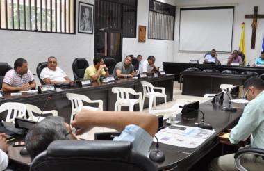 Vista de un debate en el Concejo de Valledupar.