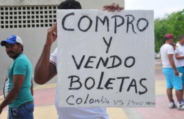 Compra de boletas en Barranquilla previo a un partido de eliminatoria de la Selección Colombia.