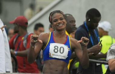 La atleta atlanticense Brigitte Merlano.