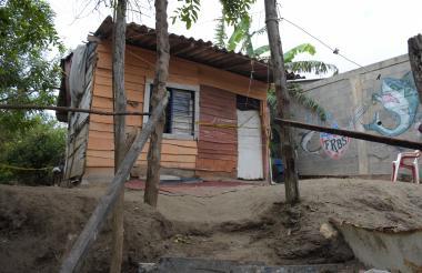 En esta vivienda de Salgar ocurrió el triple asesinato.