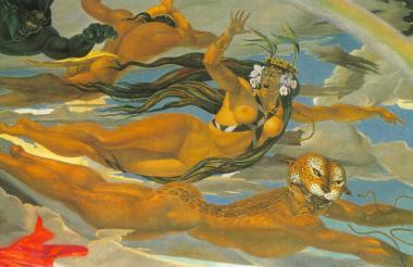 Detalle del mural de la Galería de Pinturas del Círculo de las Fuerzas Armadas.