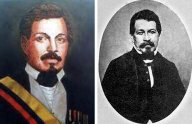 Cuadros en óleo del ex presidente afro de Colombia, Juan José Nieto Gil.
